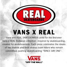VANS X REAL SKATEBOARDS