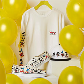"11/16(THU)RELEASE VANS × DISNEY ""MICKEY MOUSE 90TH"""